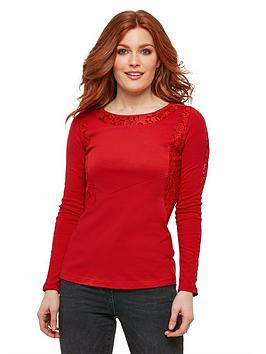 Joe Browns Joe Browns Lush Lace Top - Red Picture