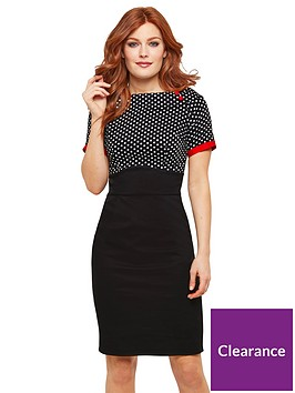 joe-browns-passionate-polka-dot-dress-blackmulti