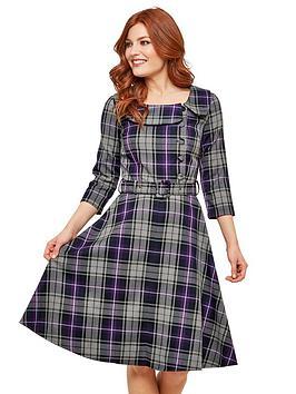 joe-browns-spirited-vintage-style-dress-greypurple