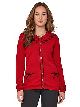Joe Browns Joe Browns Witches Cat Cardigan - Red Picture