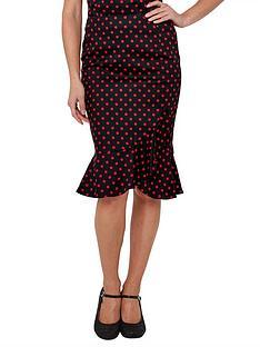 joe-browns-flirty-frill-skirt-black-red
