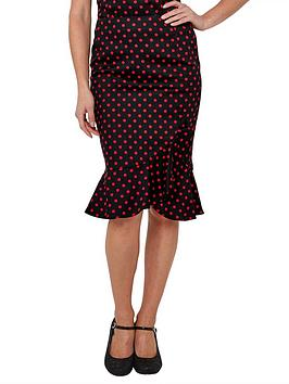 Joe Browns Joe Browns Flirty Frill Skirt - Black Red Picture