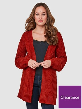 joe-browns-chunky-cable-cardigan-red