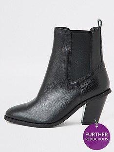 river-island-river-island-leather-wide-fit-western-boot-black
