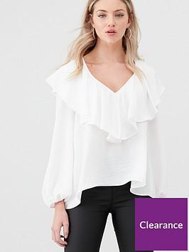 river-island-frill-v-neck-blouse-white