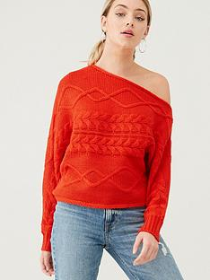 river-island-river-island-asymmetric-bardot-jumper-orange