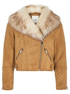 river-island-girls-quilted-biker-jacket-brown