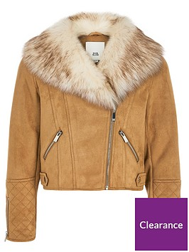 river-island-girls-quilted-biker-jacket-brown