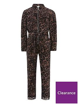 river-island-girls-cordroy-leopard-print-jumpsuit-brown