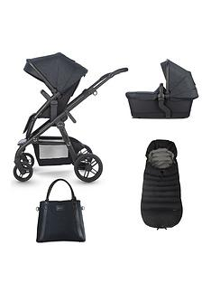 silver-cross-coast-pushchair-accessory-bundle-pushchair-carry-cot-footmuff-and-change-bag