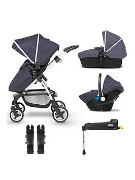 silver-cross-wayfarer-5-piece-bundle-pushchair-carry-cot-simplicity-car-seat-isofix-base-and-simplicity-adaptor