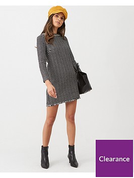mango-tweed-shift-dress-black