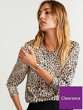 mango-animal-print-blouse