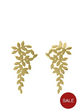 sara-miller-sara-miller-18ct-gold-plated-scattered-leaf-drop-earrings