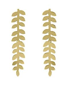 sara-miller-sara-miller-18ct-gold-plated-leaf-stem-drop-earrings