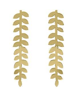 Sara Miller Sara Miller Sara Miller 18Ct Gold Plated Leaf Stem Drop  ... Picture