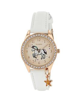 Tikkers Tikkers Tikkers Gold Unicorn Sunray Crystal Set Dial With Star  ... Picture