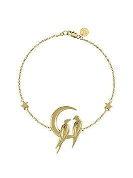 Sara Miller Sara Miller Sara Miller 18Ct Gold Plated Crescent Moon Love  ... Picture
