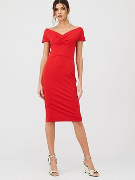 V by Very V By Very Ruched Front Pencil Dress Picture
