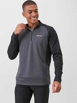berghaus-long-sleeve-zip-tech-top-carbon