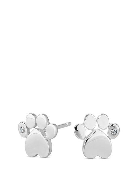 simply-silver-cubic-zirconia-paw-print-stud-earrings