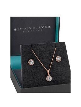 Simply Silver Simply Silver Simply Silver 14Ct Rose Gold Plated Cubic  ... Picture
