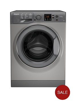 hotpoint-nswm743ugg-7kg-load-1400-spin-washing-machine-graphite