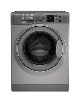 Hotpoint Hotpoint Nswm743Ugg 7Kg Load, 1400 Spin Washing Machine - Graphite Picture