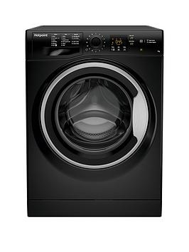 Hotpoint Hotpoint Nswm743Ubs 7Kg Load, 1400 Spin Washing Machine - Black Picture