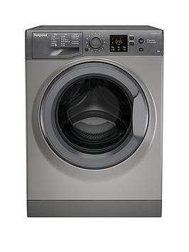 Hotpoint Hotpoint Nswm843Cgg 8Kg Load, 1400 Spin Washing Machine - Graphite Picture