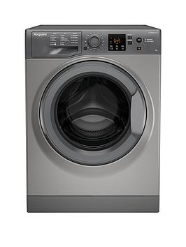 Hotpoint Hotpoint Nswm943Cgg 9Kg Load, 1400 Spin Washing Machine - Graphite Picture