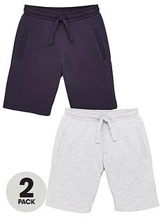 v-by-very-boys-essential-2-pack-jog-shorts-navygrey-marl