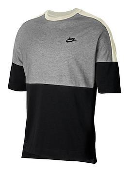 nike-sportswear-plus-size-short-sleevesnbspjersey-top-blacknbsp