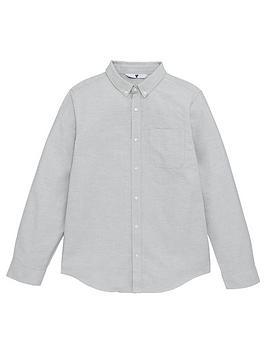 V by Very V By Very Boys Oxford Shirt - Grey Picture