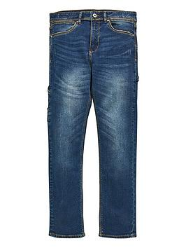 V by Very V By Very Boys Carpenter Jeans - Blue Picture