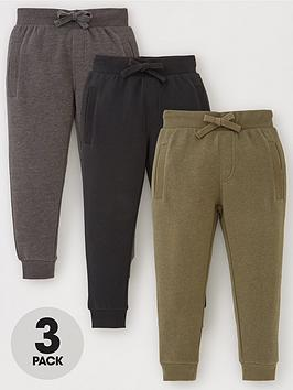 V by Very V By Very Boys Essentials 3 Pack Joggers - Multi Picture