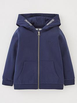 V by Very V By Very Boys Essentials Zip Through Hoodie - Navy Picture