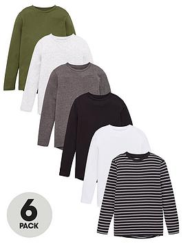 V by Very V By Very Boys 6 Pack Long Sleeve T-Shirts - Multi Picture