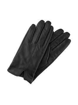 Accessorize   Basic Leather Glove - Black
