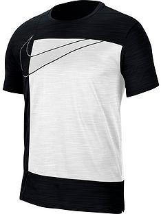 nike-dry-contrast-block-t-shirt-blackwhitenbsp