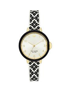 kate-spade-new-york-kate-spade-silver-sunray-and-gold-detail-dial-white-and-black-spade-print-silicone-strap-ladies-watch