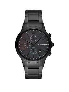 Emporio Armani Emporio Armani Emporio Armani Black Chronograph Dial Black  ... Picture
