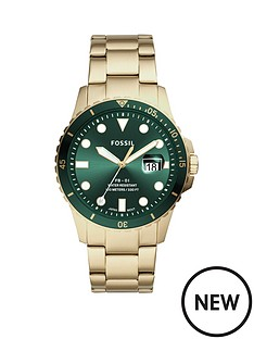 fossil-fossil-green-sunray-date-dial-gold-stainless-steel-bracelet-mens-watch