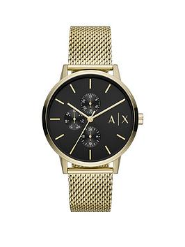 Armani Exchange Armani Exchange Armani Exchange Black Multi Dial Gold Ip  ... Picture