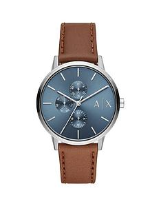 armani-exchange-armani-exchange-blue-sunray-multi-dial-brown-leather-strap-mens-watch