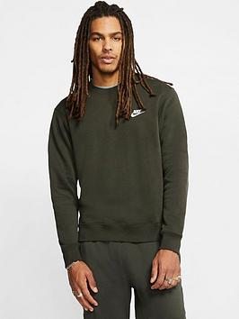 Nike Nike Club Fleece Crew Sweatshirt  - Green Picture