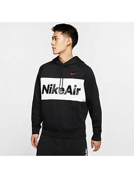 Nike Nike Air Overhead Fleece Hoodie - Black/White/Red Picture