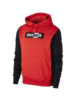 Nike Nike Jdi Logo Hoodie - Red/Black Picture