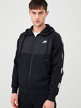 Nike Nike Hybrid Taped Full Zip Hoodie - Black Picture