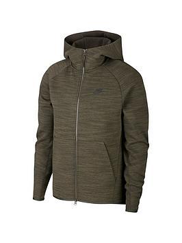 Nike Nike Tech Fleece Heathered Full Zip Hoodie - Green Picture